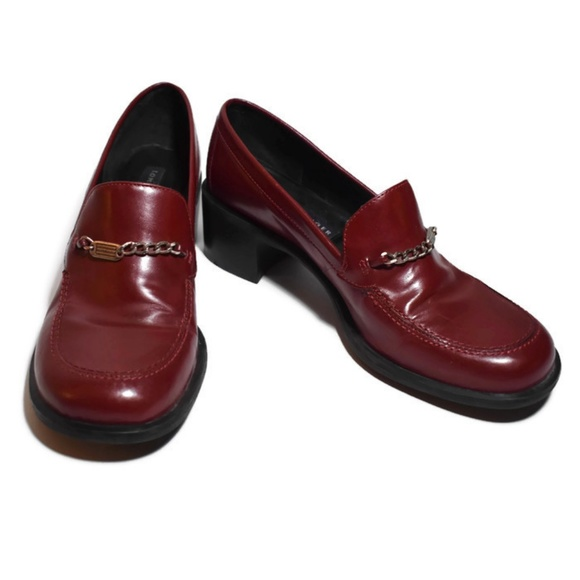 9ac83ae37748d VTG 90s Tommy Hilfiger Cherry High Heel Clogs 8M